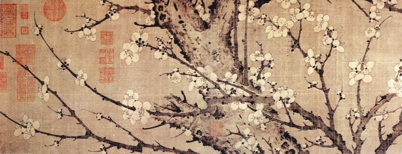 Yan Sou. Chinese artists of the Middle Ages (岩叟 - 梅花诗意图)