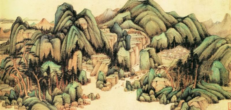 Wang Jian. Chinese artists of the Middle Ages (王鉴 - 青绿山水图)