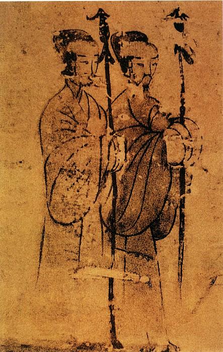 Unknown. Китайские художники средних веков (佚名 - 二桃杀三士(部分))