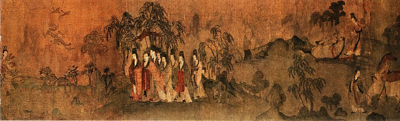 Gu Kai. Chinese artists of the Middle Ages (顾恺之 - 洛神赋图)