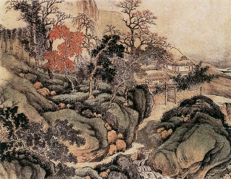 Wu Li. Chinese artists of the Middle Ages (吴历 - 秋景山水图)