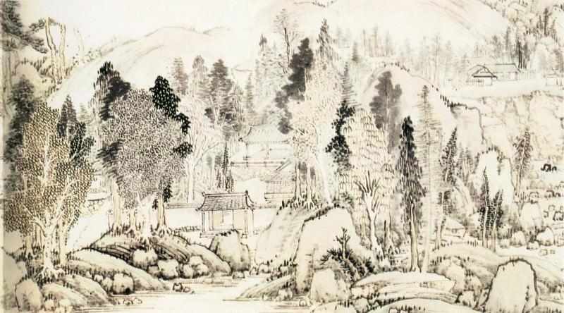 Zhang. Китайские художники средних веков (张宏 - 西山爽气图)