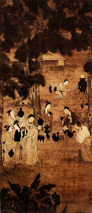 Liu Songnian. Chinese artists of the Middle Ages (刘松年 - 博古图)