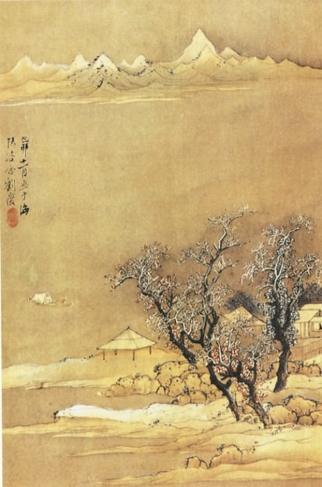 Liu Du. Chinese artists of the Middle Ages (刘度 - 山水图(一,二))