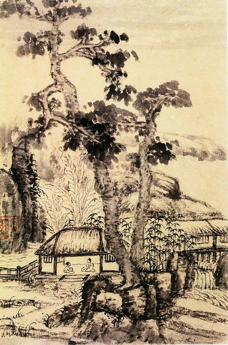 Kun Can. Chinese artists of the Middle Ages (髡残 - 山水图(之二))