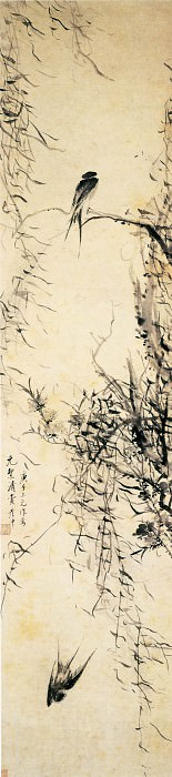 Liu Yanchong. Chinese artists of the Middle Ages (刘彦冲 - 桃柳双燕图)