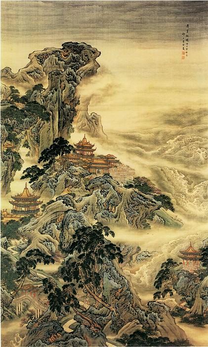 Yuan Yao. Китайские художники средних веков (袁耀 - 蓬莱仙境图)