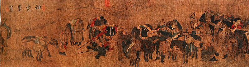 Hu Rang. Chinese artists of the Middle Ages (胡壤 - 卓歇图)
