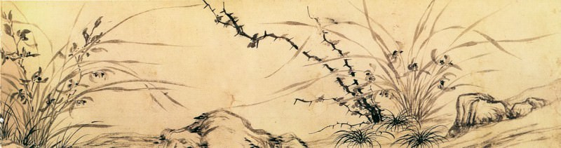 Wen Zhengming. Chinese artists of the Middle Ages (文徵明 - 兰竹图)