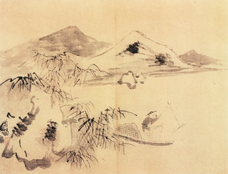 Pu He. Китайские художники средних веков (普荷 - 山水图(之一、二))