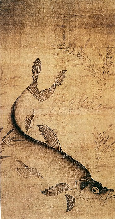 Lai An. Chinese artists of the Middle Ages (赖庵 - 藻鱼图)