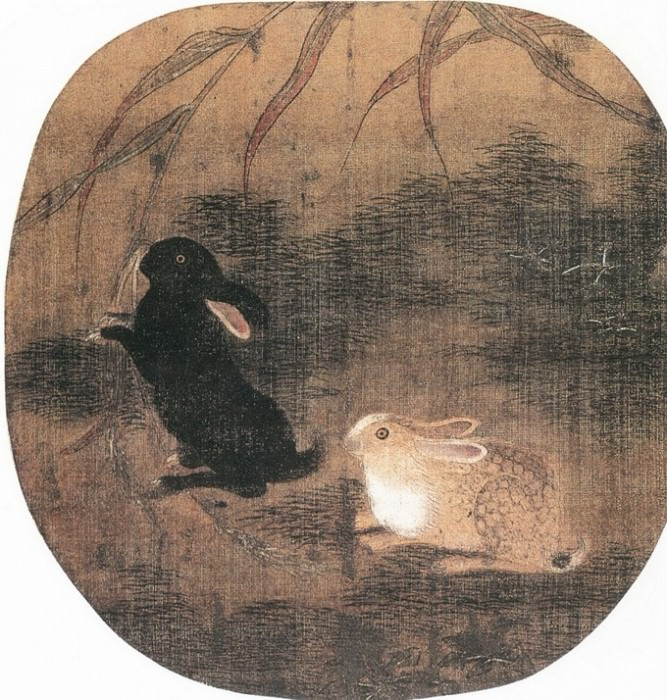 Unknown. Chinese artists of the Middle Ages (佚名 - 双兔图)