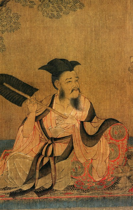 Sun Wei. Chinese artists of the Middle Ages (孙位 - 高逸图)