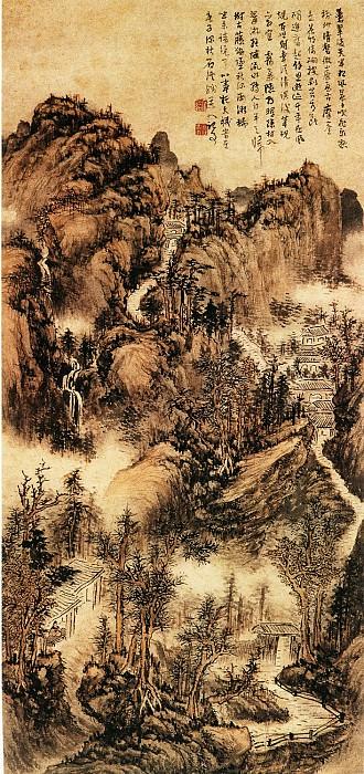 Kun Can. Китайские художники средних веков (髡残 - 苍翠凌天图)