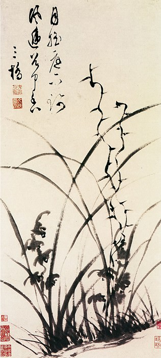 Wen Peng. Chinese artists of the Middle Ages (文彭 - 兰花图)