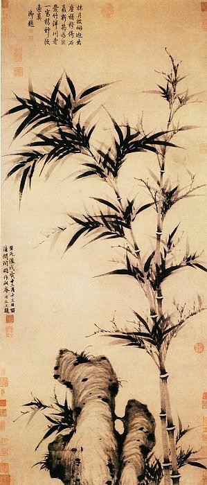 Ke Jiusi. Китайские художники средних веков (柯九思 - 清闷阁墨竹图)