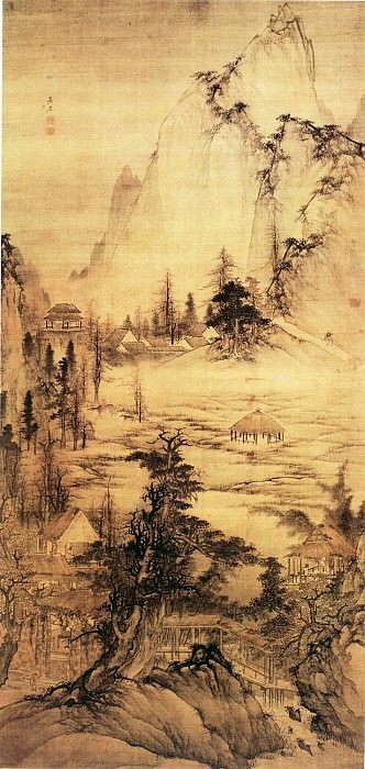 Wu Hong. Chinese artists of the Middle Ages (吴宏 - 负郭村居图)