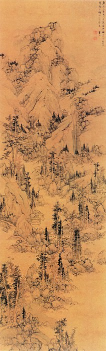 Lan Meng. Chinese artists of the Middle Ages (蓝孟 - 秋林逸居图)