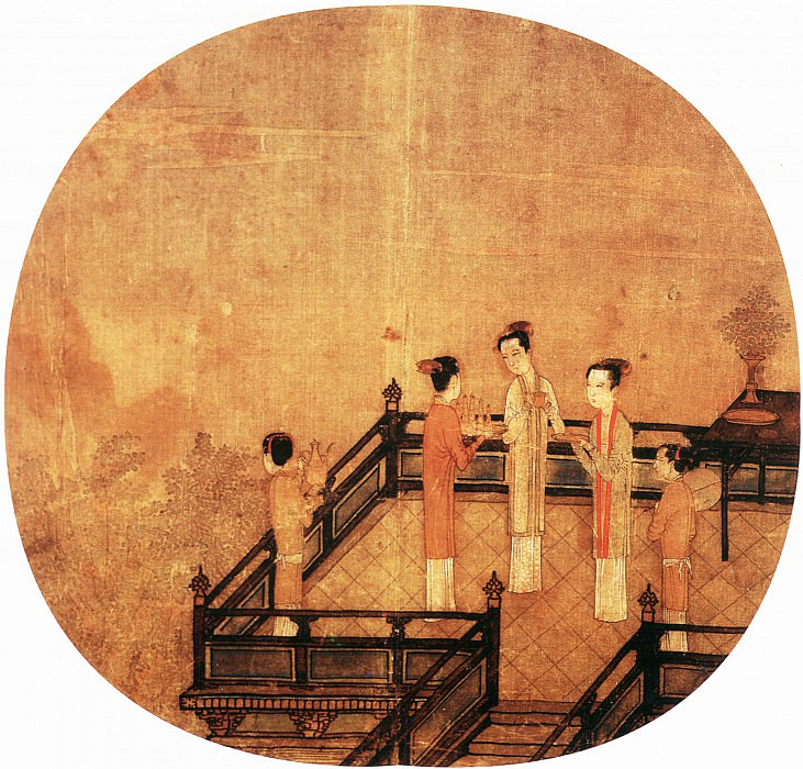 Unknown. Chinese artists of the Middle Ages (佚名 - 荷亭儿戏图)