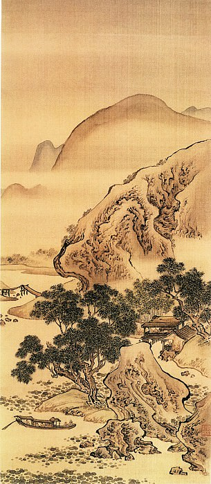 Yuan Jiang. Chinese artists of the Middle Ages (袁江 - 荷净纳凉图)