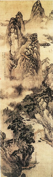 Wang Jianzhang. Chinese artists of the Middle Ages (王建章 - 山水图)