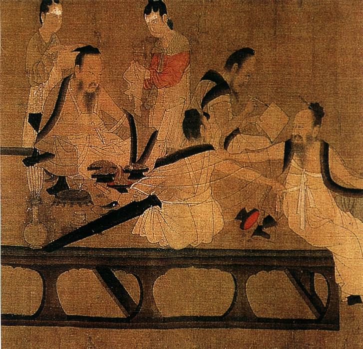 Yangzihua. Chinese artists of the Middle Ages (杨子华 - 北齐校书图)