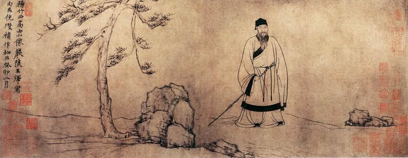 Wang Yini Zan. Китайские художники средних веков (王绎倪瓒 - 杨竹西小像)
