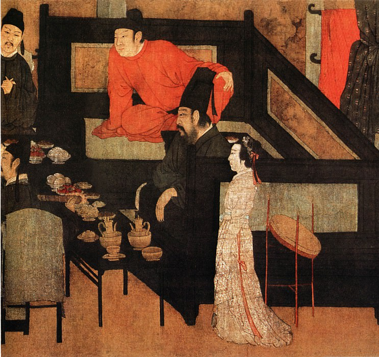 Gu Hezhong. Chinese artists of the Middle Ages (顾阂中 - 韩熙载夜宴图)