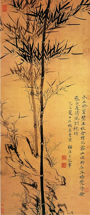 Chen Qin. Chinese artists of the Middle Ages (陈芹 - 修篁文石图)