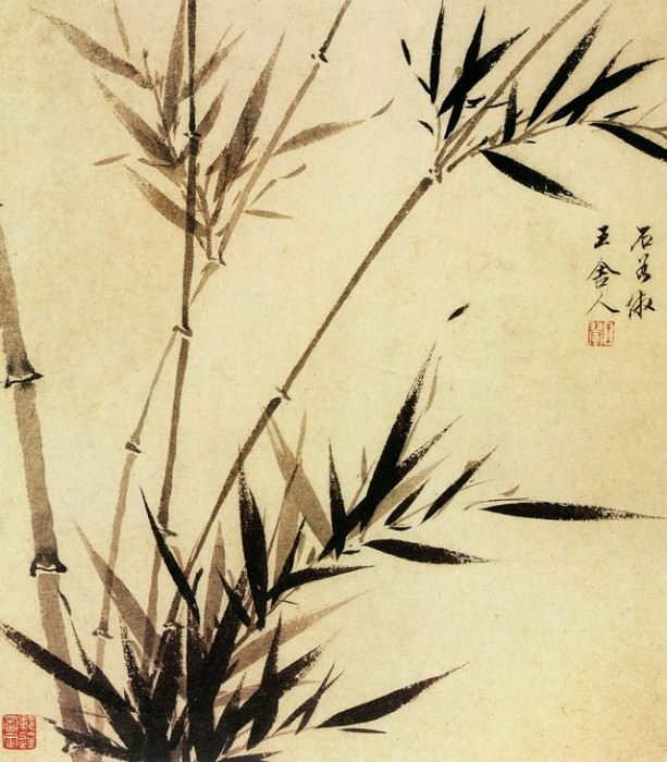 Wang Hun. Chinese artists of the Middle Ages (王荤 - 墨竹图)