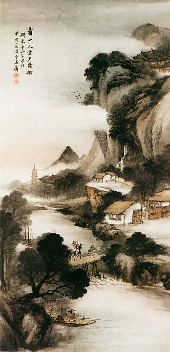 Pu Hua. Chinese artists of the Middle Ages (蒲华 - 山晴水明图)