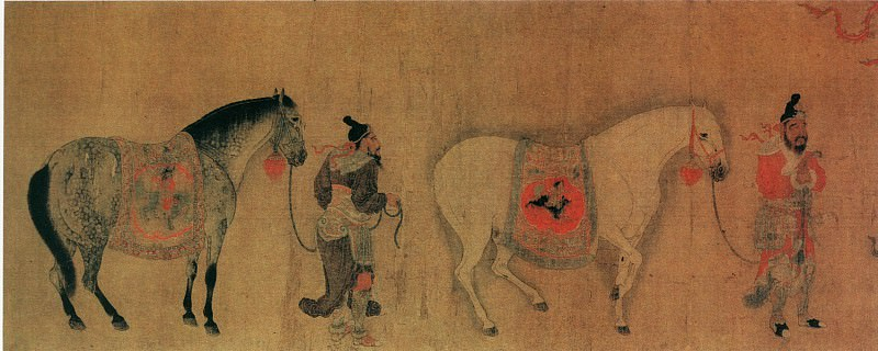Ren Bo Wen. Chinese artists of the Middle Ages (任伯温 - 职贡图(部分))