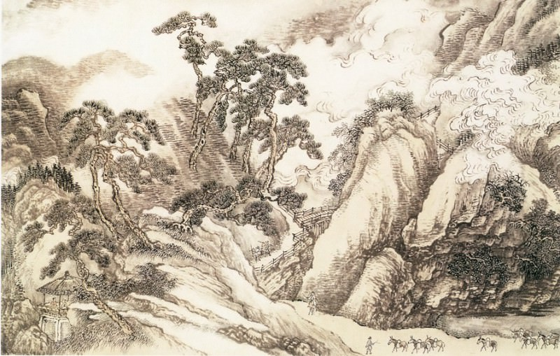 Wang Yun. Chinese artists of the Middle Ages (王晕 - 云山竞秀图)