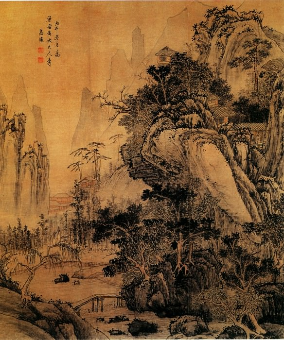 Gao Yan. Chinese artists of the Middle Ages (高俨 - 春山秀色图)