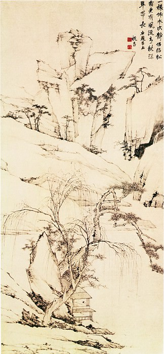 Zhu Chang. Chinese artists of the Middle Ages (祝昌 - 水阁深秋图)