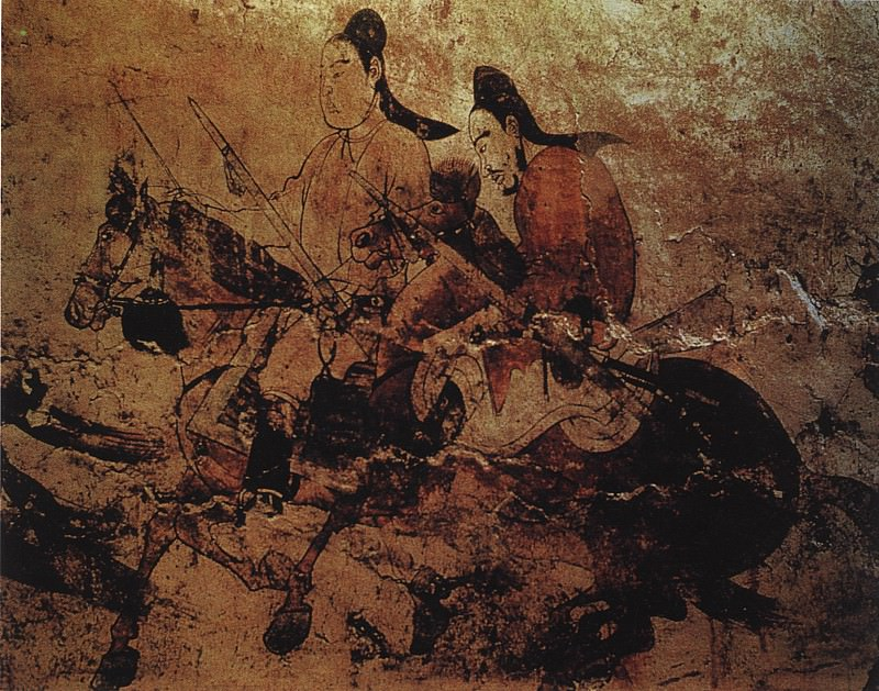 Unknown. Chinese artists of the Middle Ages (佚名 - 出行图(部分))