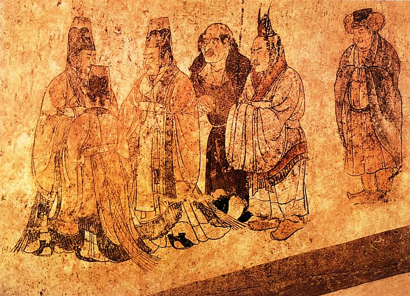 Unknown. Chinese artists of the Middle Ages (佚名 - 宾客图)