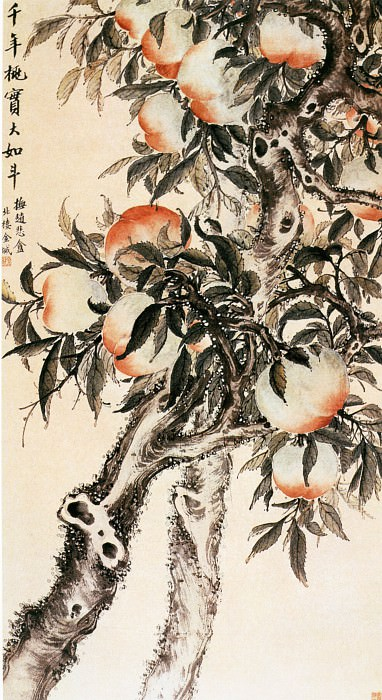 Jin Cheng. Chinese artists of the Middle Ages (金城 - 千年桃实图)