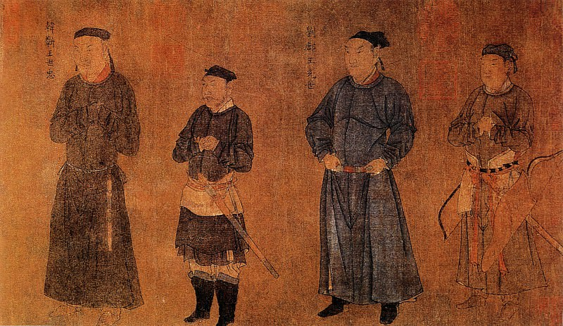 Liu Songnian. Chinese artists of the Middle Ages (刘松年 - 中兴四将图)