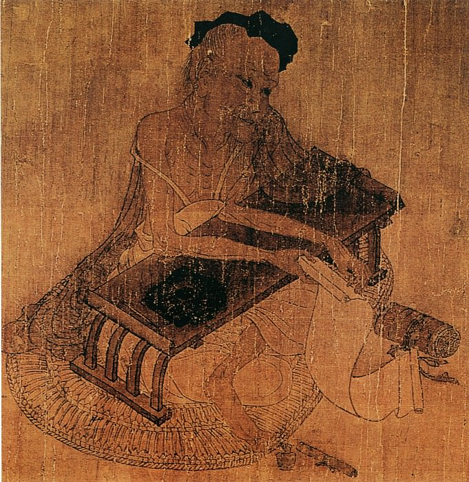 Wang Wei. Chinese artists of the Middle Ages (王维 - 伏生授经图)