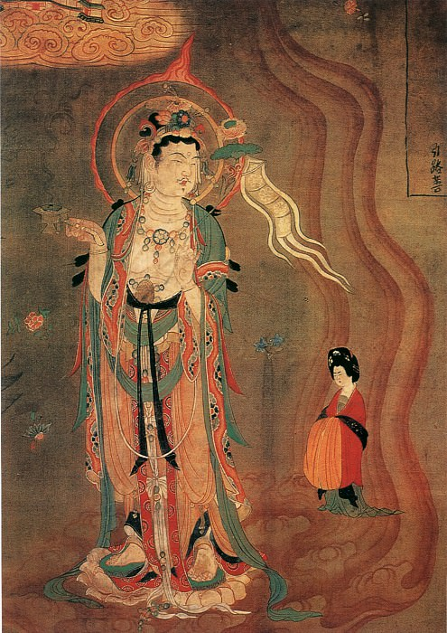 Unknown. Chinese artists of the Middle Ages (佚名 - 引路菩萨图)