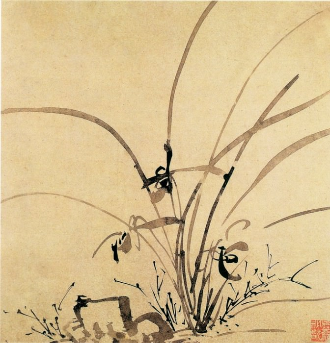 Li Liufang. Chinese artists of the Middle Ages (李流芳 - 山水花卉图(之一、二))