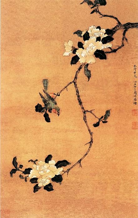 Zhou Shuxi. Китайские художники средних веков (周淑禧 - 茶花幽禽图)