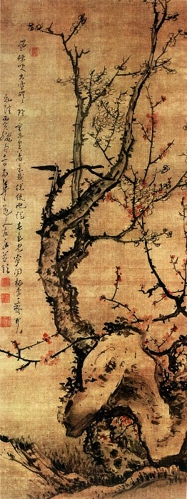 Gao Fenghan. Chinese artists of the Middle Ages (高凤翰 - 梅石图)