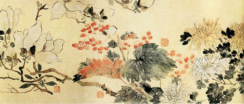 Tang Yi Fen Deng. Китайские художники средних веков (汤贻汾等 - 花果图)