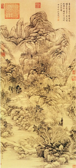 Dong Bangda. Chinese artists of the Middle Ages (董邦达 - 烟磴寒林图)