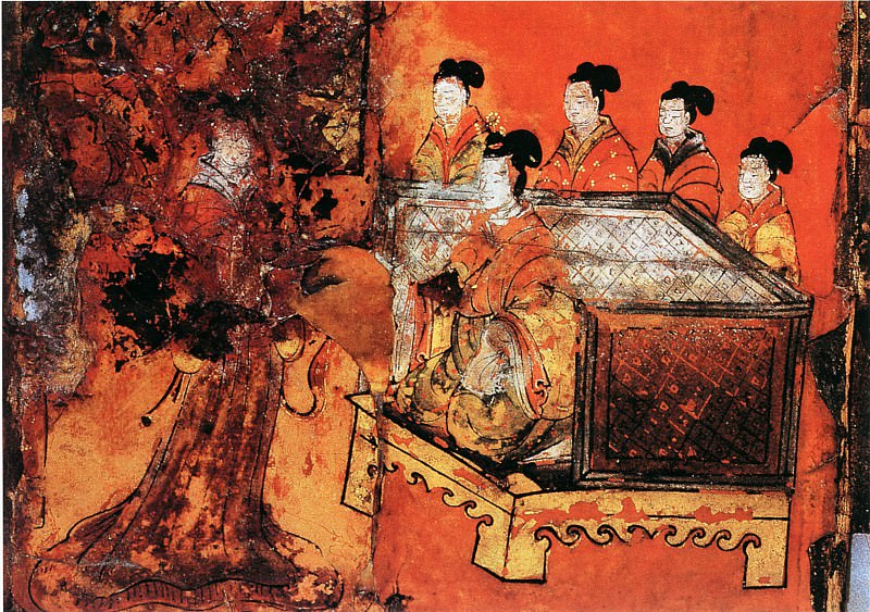 Unknown. Chinese artists of the Middle Ages (佚名 - 列女古贤图(之一、二))