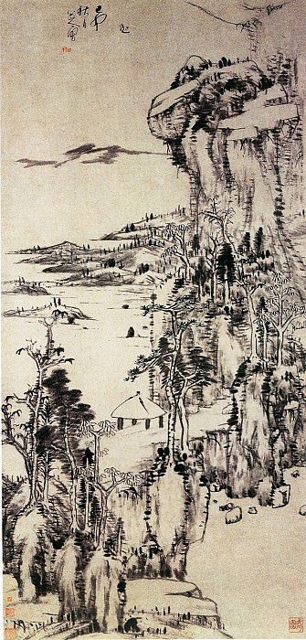 Zhu Da. Chinese artists of the Middle Ages (朱耷 - 山水图)