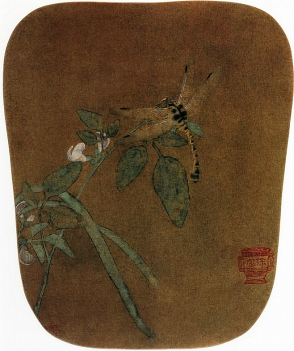 Unknown. Chinese artists of the Middle Ages (佚名 - 豆花蜻蜓图)