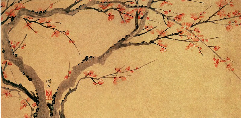 Luo Fang Shu. Chinese artists of the Middle Ages (罗芳淑 - 梅花图)